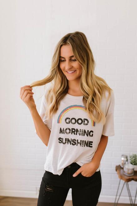 Good Morning Sunshine Graphic Tee - Clay