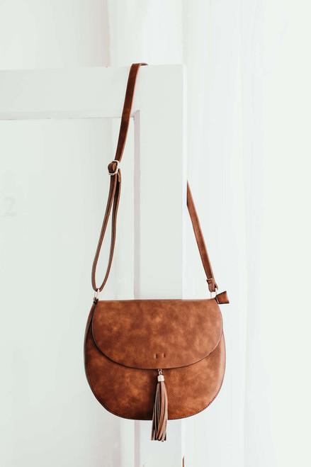 Southern Revival Distressed Saddle Bag - Brown