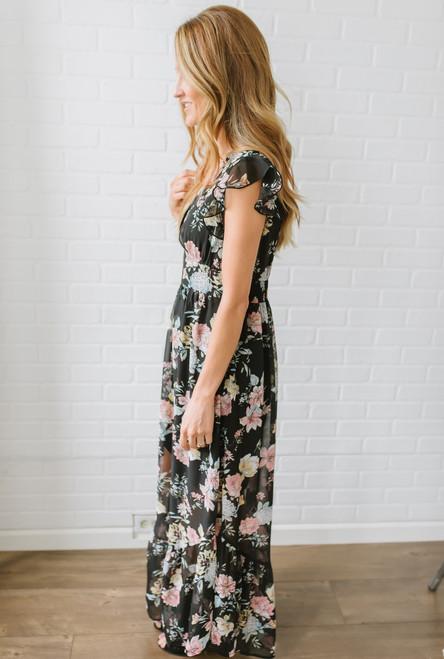 Save the Date Floral Maxi - Black Multi - FINAL SALE