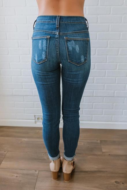 Georgia On My Mind Skinny Jeans - Medium Wash
