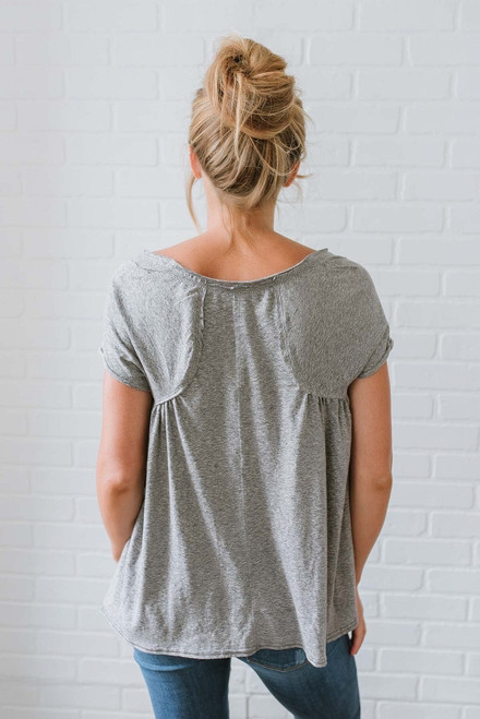 Free People Nori Tee - Heather Grey - FINAL SALE