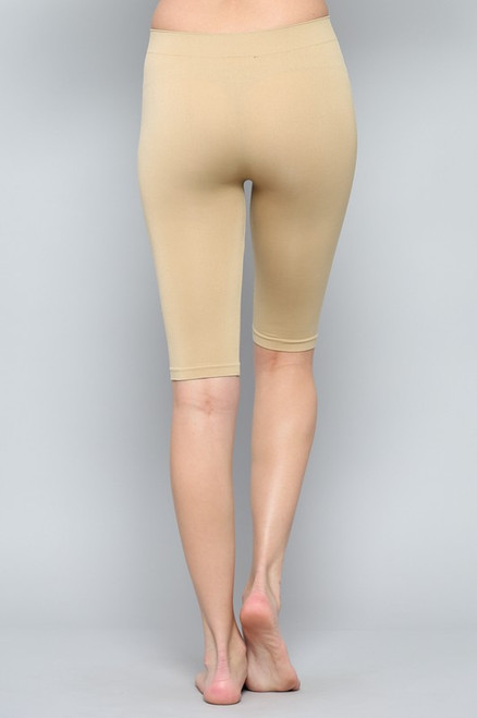 Seamless Biker Shorts - Nude