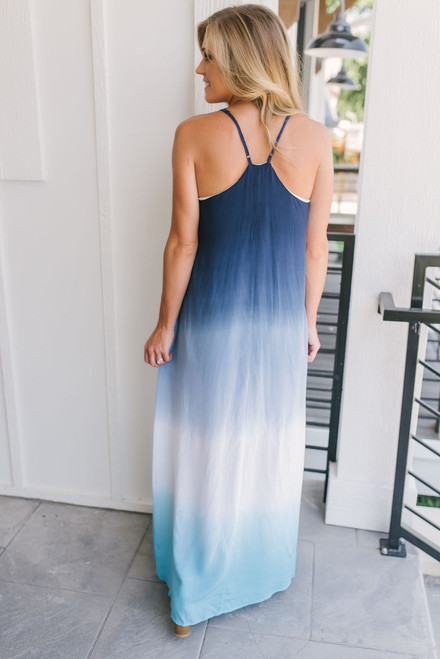 Fade Into You Ombre Maxi - Blue Multi