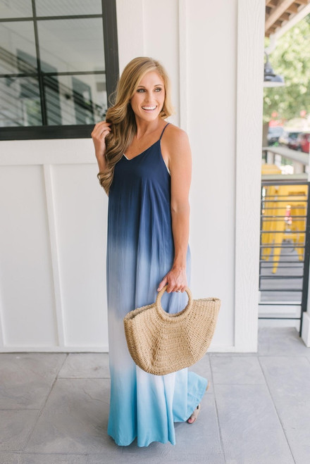 Fade Into You Ombre Maxi - Blue Multi  - FINAL SALE
