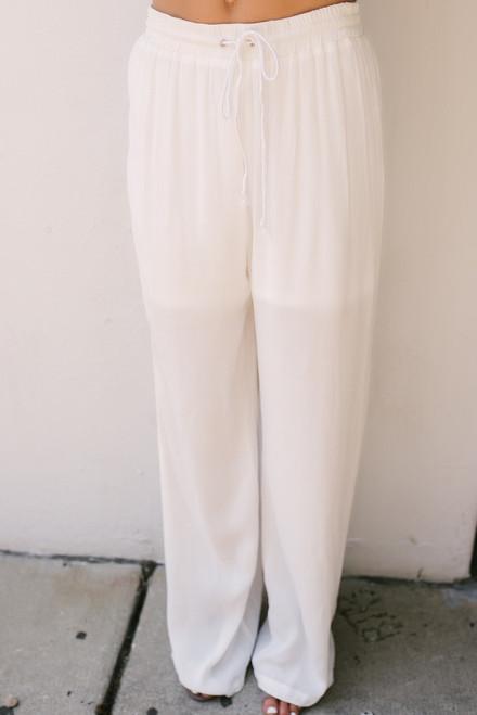 Santorini Summer Palazzo Pants - White