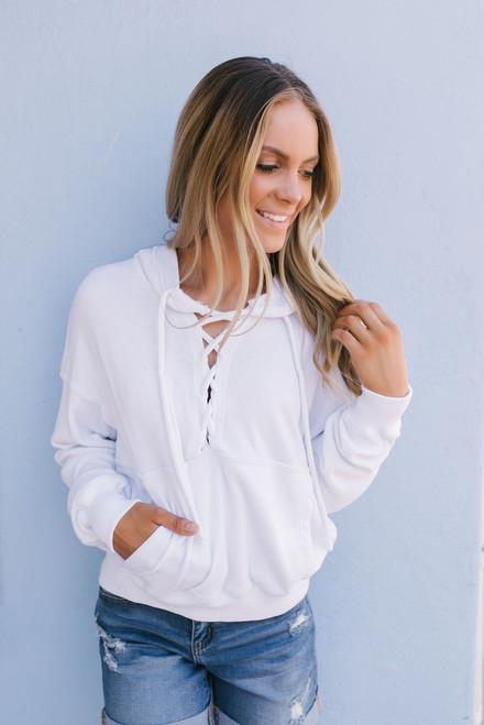 Free People Believer Sweatshirt - White