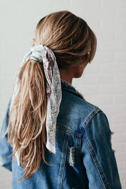 Headbands of Hope Paisley Princess Scarf - Taupe