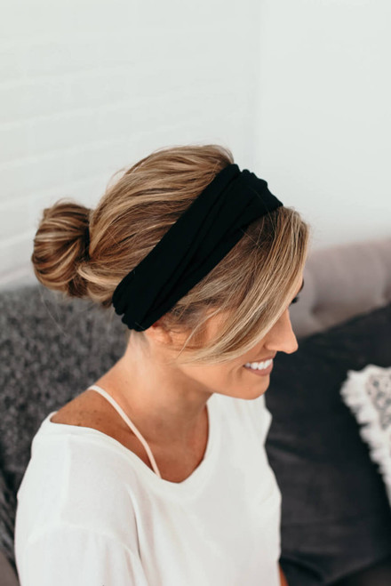 Headbands of Hope Midnight Turban Headband - Black