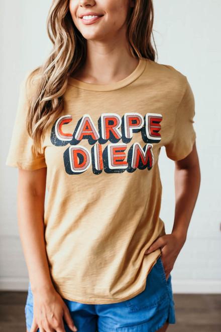 Carpe Diem Graphic Tee - Gold