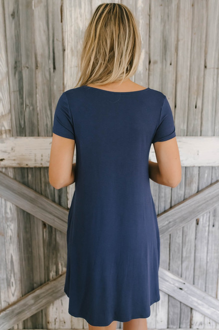 Sunny Days T-Shirt Dress - Navy - FINAL SALE