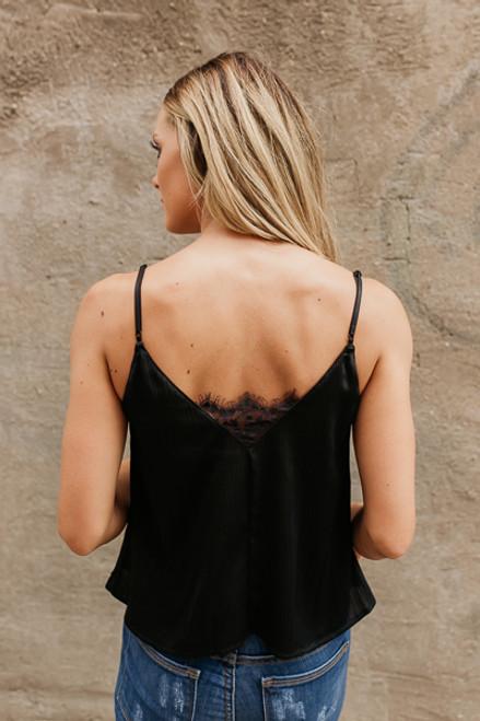 Love Like This Lace Trim Tank - Black