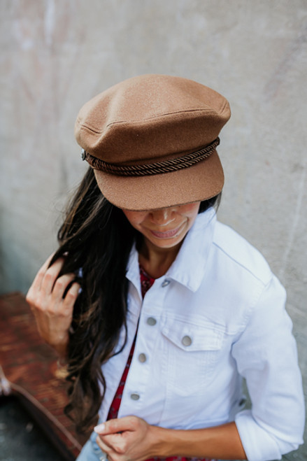 Come Away with Me Lieutenant Hat - Camel