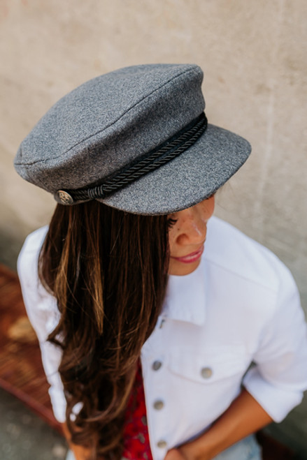 Come Away with Me Lieutenant Hat - Charcoal