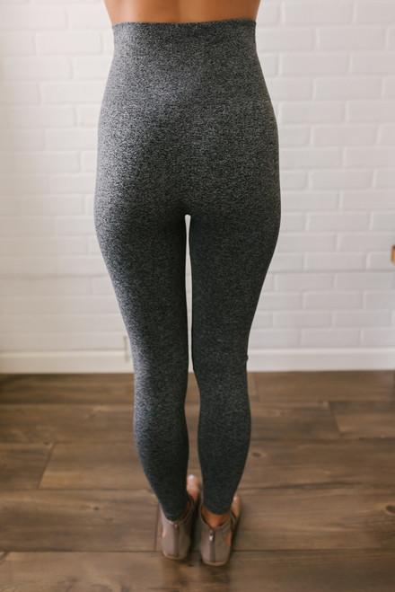 Seamless High Waist Leggings - Heather Grey