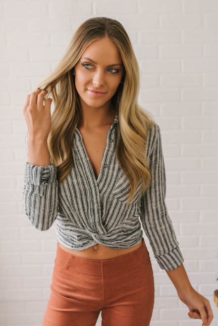 Free People Lust for Life Top - Ivory Stripe