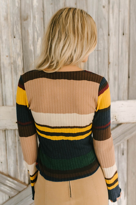 Tribeca Colorblock Ribbed Knit Top - Multi - FINAL SALE