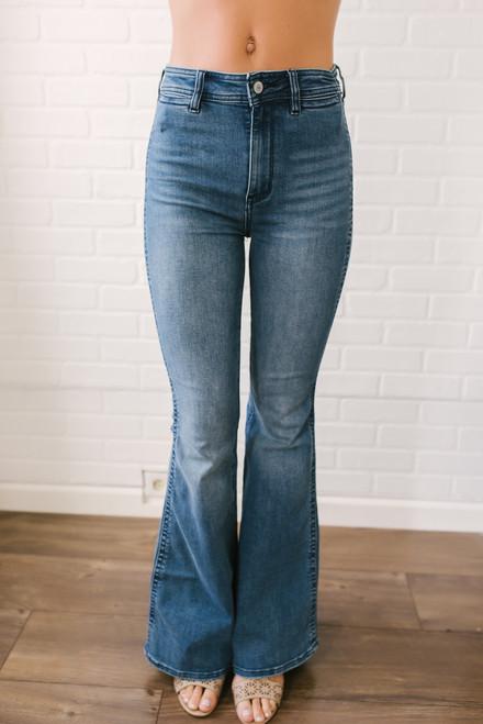 Free People Brooke Flare Jeans - Medium Wash