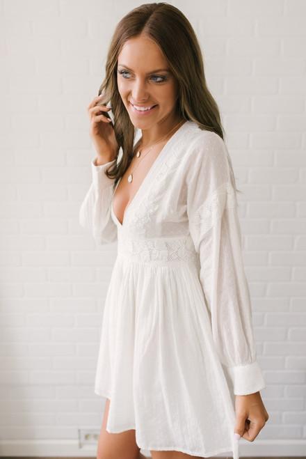Free People Sugarpie Dress - Off White