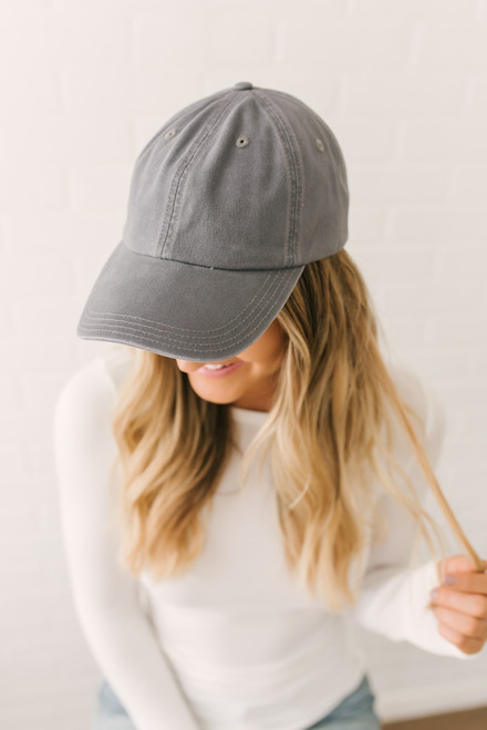 Covering My Bases Baseball Hat - Charcoal