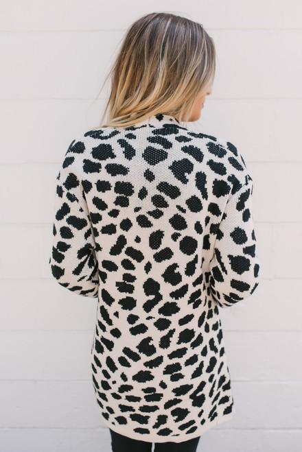 Animal Instinct Leopard Cardigan - Grey/Black