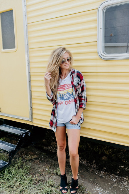 Adventure of a Lifetime Plaid Button Down - Red Multi