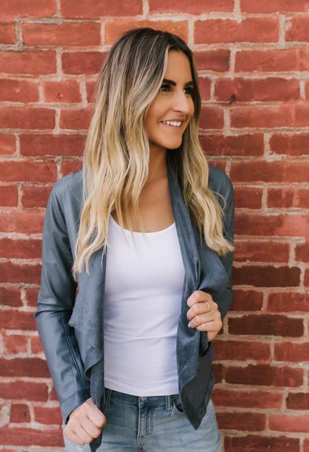 BB Dakota Teagan Reversible Jacket - Charcoal