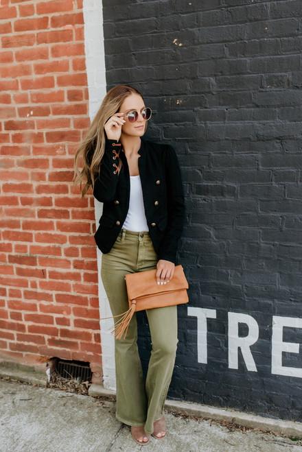 Free People Brooke Flare Jeans - Green