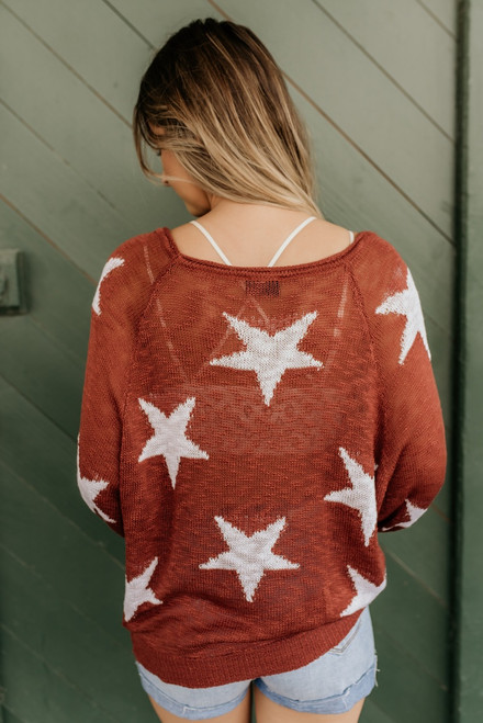 Written in the Stars Sweater - Brick