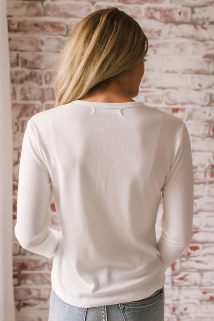 Friday Night Lights Henley Top - Off White