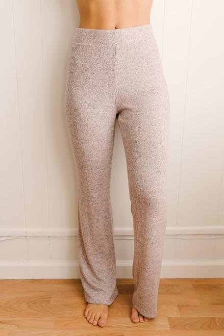 Sunday Snuggles Soft Brushed Pants - Heather Blush