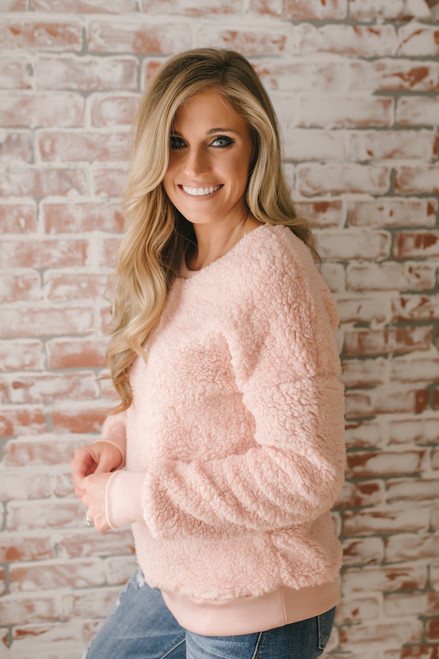 Love So Sweet Cozy Pullover - Blush