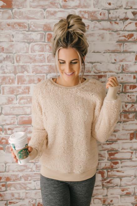 Love So Sweet Cozy Pullover - Cream