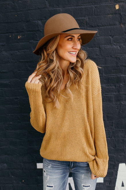 According To You V-Neck Sweater - Mustard