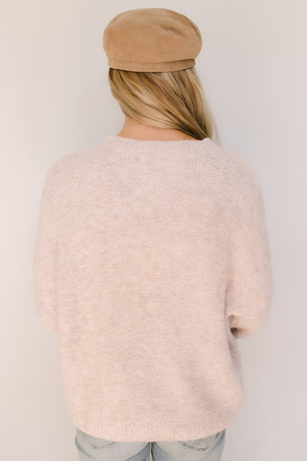 Wild Horses Two Tone Sweater - Blush