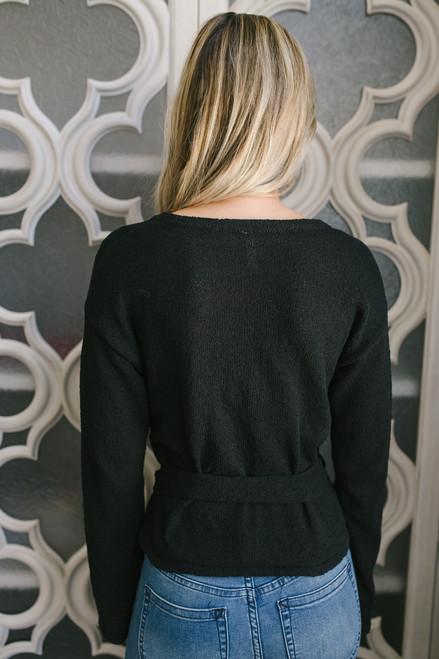 Bretton Woods Tie Waist Sweater - Black