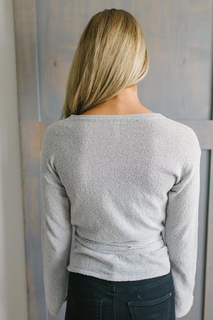 Bretton Woods Tie Waist Sweater - Grey