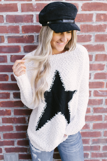 Star of the Show Wubby Sweater - Vanilla