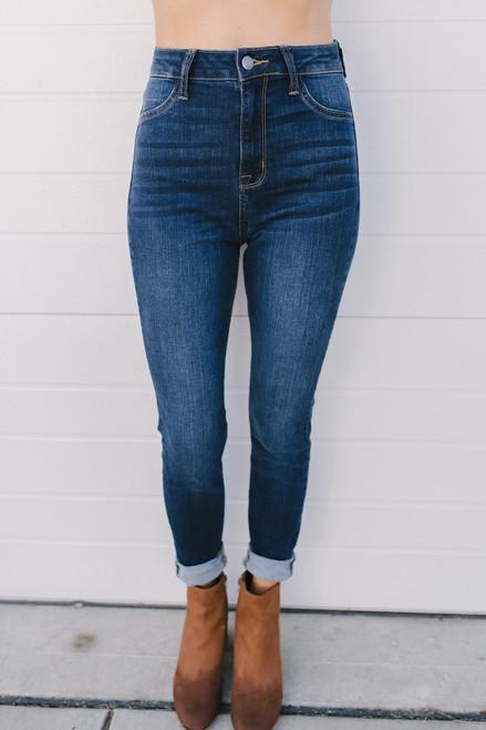 High Society High Waist Skinny Jeans - Dark Wash