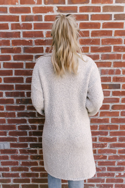 Grand Central Two Tone Pocket Cardigan - Oatmeal