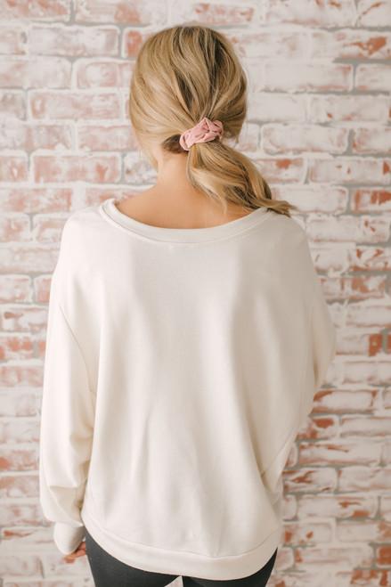 Do Good Embroidered Sweatshirt - Clay