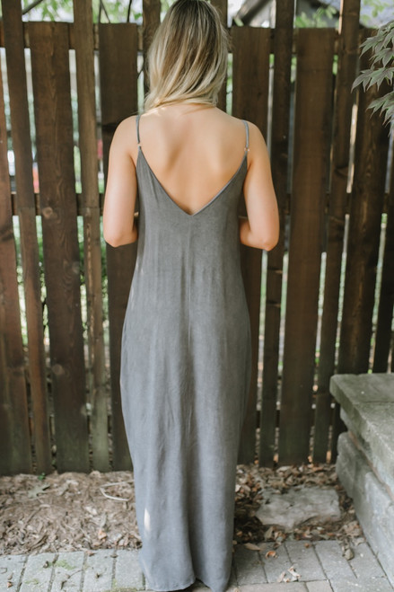 Beyond the Coast Vintage Wash Maxi - Charcoal