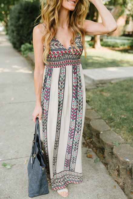 Desert Princess Printed Maxi - Cream Multi