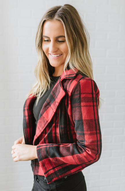 Jack by BB Dakota Out of the Woods Jacket - Red/Black