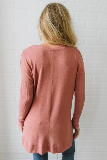 Vail Summit Soft Brushed Sweater - Brick