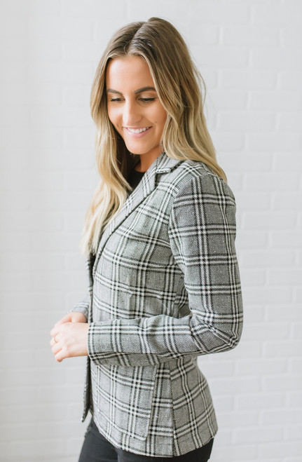 Westminster Glen Plaid Blazer - Grey Multi
