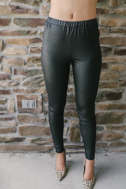 Ingrid Faux Leather Leggings - Black