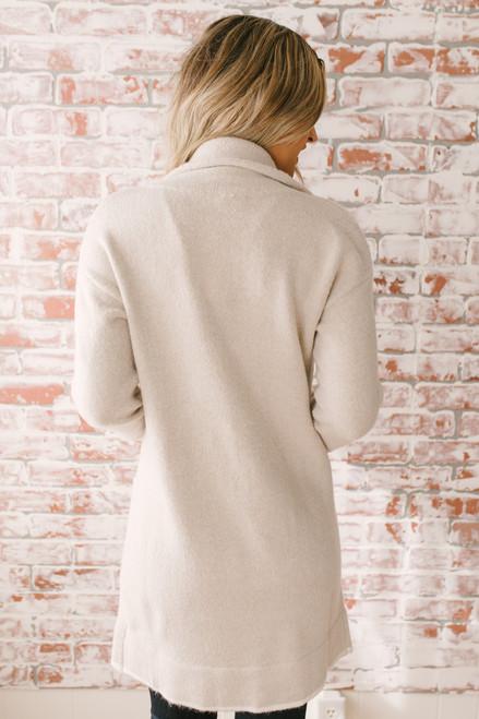 Vanderbilt Avenue Pocket Cardigan - Beige/Ivory
