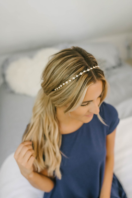 Headbands of Hope Geometric Rhinestone Headband - Gold