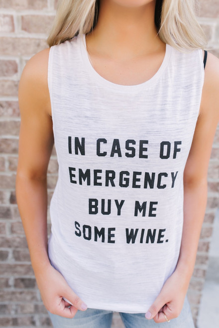 Buy Me Some Wine Tank - White