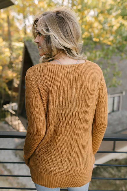 Need You Now Knot Sweater - Caramel